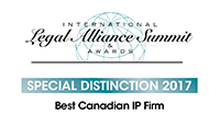 Legal Alliance Summit Best Canadian Law Firm Special Distinction 2017