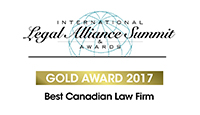 Legal Alliance Summit Best Canadian Law Firm - Gold 2017