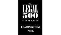 Legal 500 Leading Firm 2016