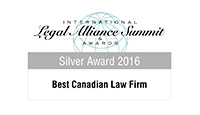 Legal Alliance Summit - Best Canadian Law Firm - Silver - 2016